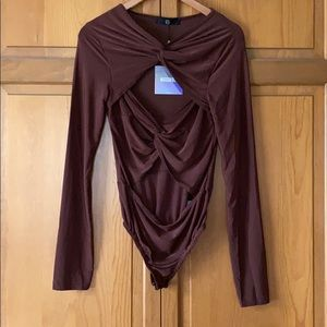 Long-Sleeve Cut Out Bodysuit